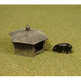 Pig hut 1 (Ready made and painted)