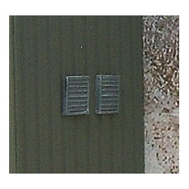 Louvered vent 1 (Pack of 4 - Unpainted)