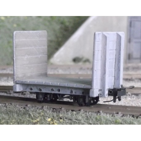 O9 Bulkhead Flat wagon kit